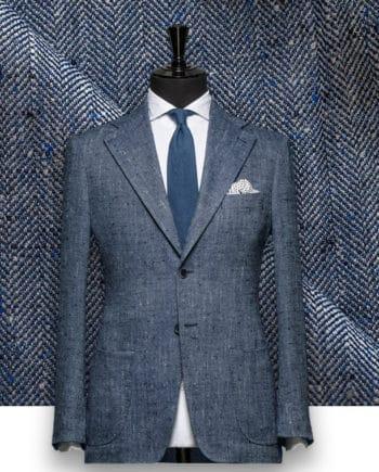 Blazer Bleu Clair Tweed Eté