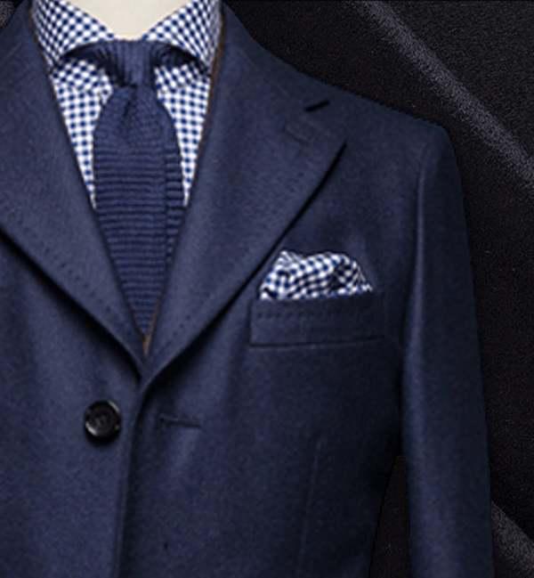 costume privé manteau sur mesure bleu cachemire