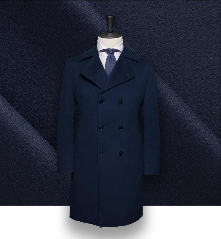 WoolCashmere Blue Caban Coat Intense Caban odQCxBerW