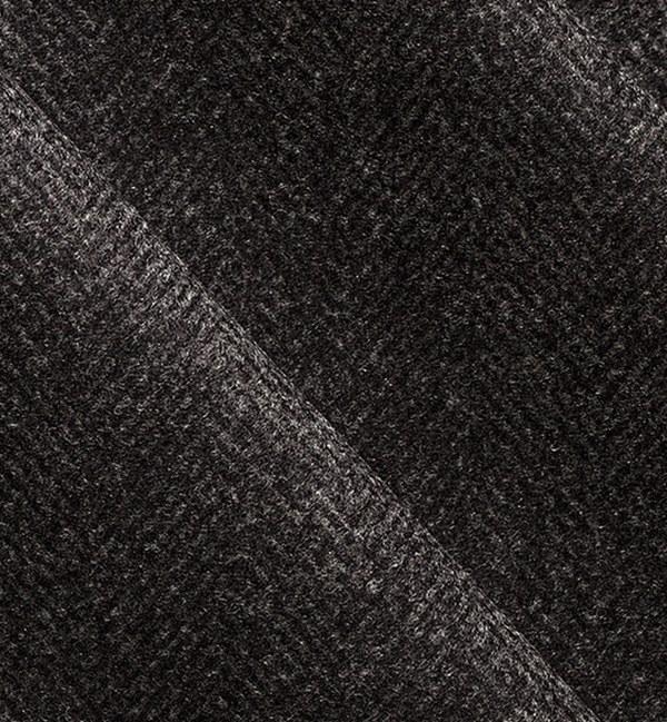 costume sur mesure privé gris chevrons cachemire