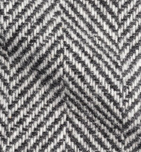 costume sur mesure privé gris clair chevrons cachemire