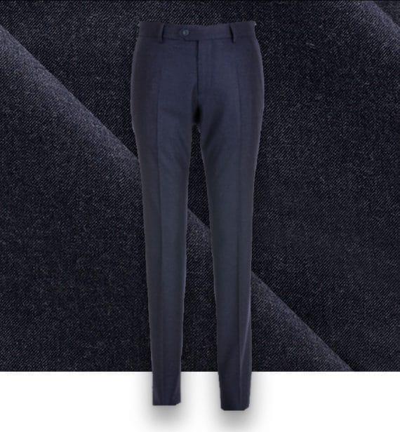 pantalon bleu flanelle pantalon sur mesure