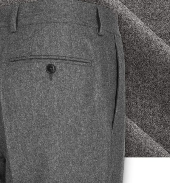 pantalon gris flanelle pantalon sur mesure