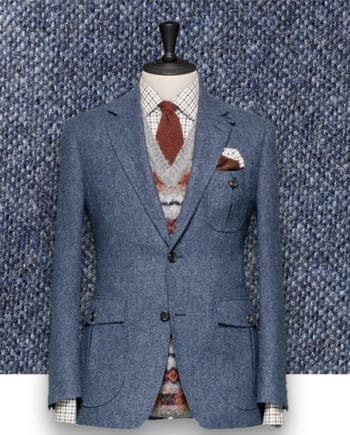 Blazer Bleu Gris Tweed casual tailleur paris