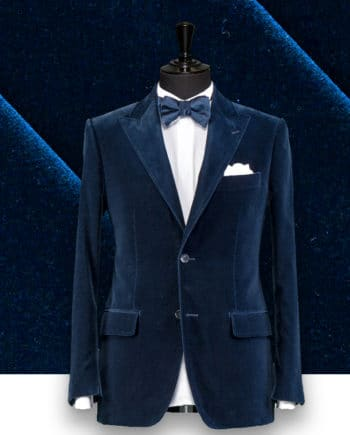 blazer velours bleu sur-mesure