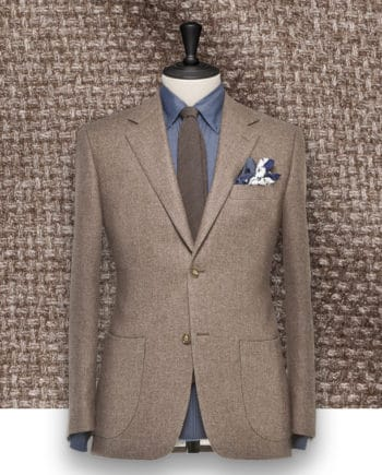 Blazer Marron Natté sur-mesure Paris