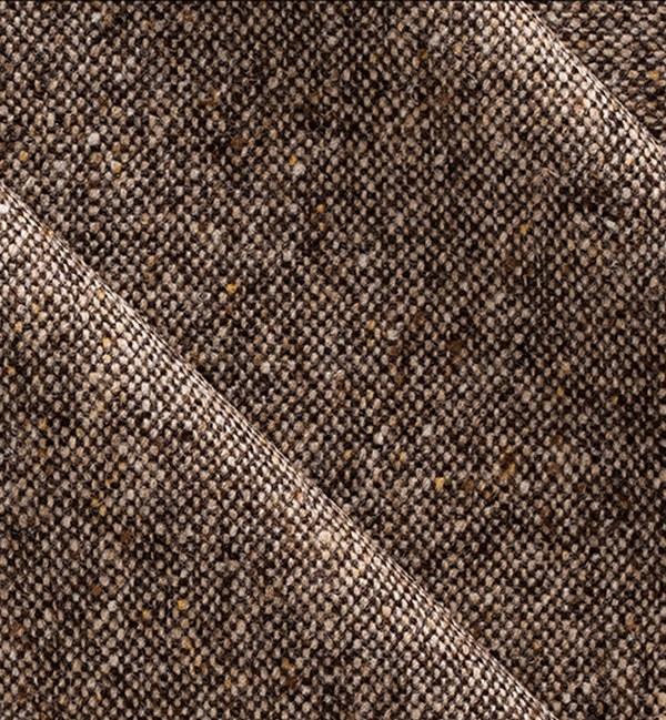 costume sur mesure tissu tweed marron