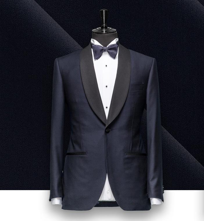smoking Bleu nuit tuxedo sur mesure paris, costume privé