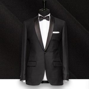 smoking noir col chale mariage sur mesure paris, costume privé
