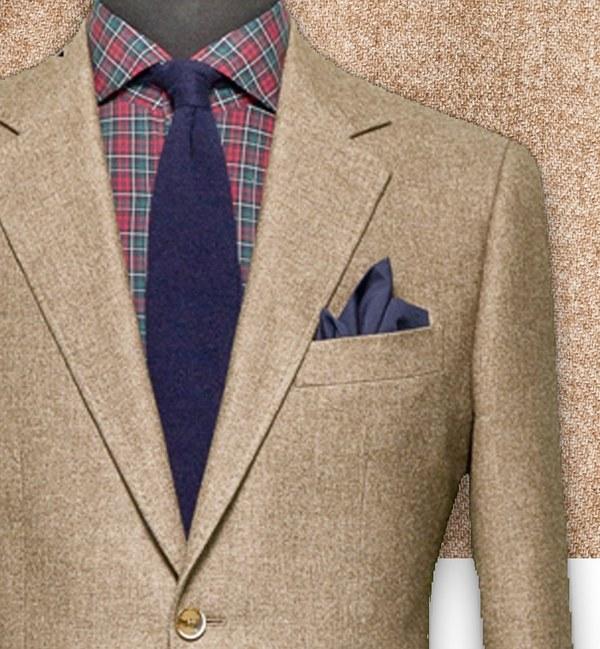 blazer marron chevrons sur-mesure tailleur costume privé paris