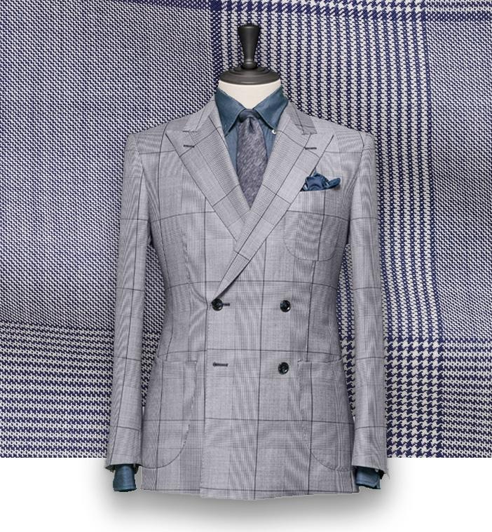 costume bleu prince de galles clair sur mesure costume priv paris. Black Bedroom Furniture Sets. Home Design Ideas