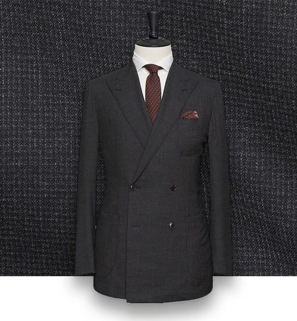 costume gris anthracite croisé costume sur mesure