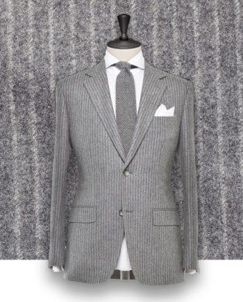 Costume gris clair Flanelle rayures tailleur costume privé paris