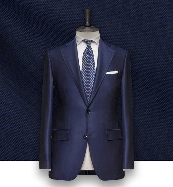 costume bleu natté costume sur-mesure paris