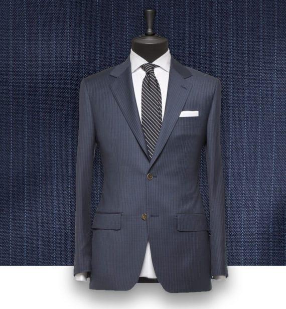 Costume Bleu fines rayures