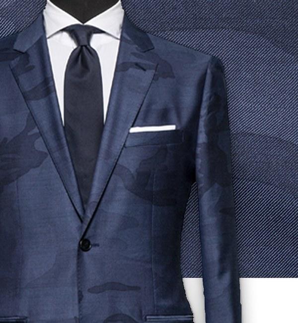 Blazer bleu camouflage