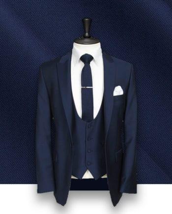 costume bleu 3 pièces sur mesure