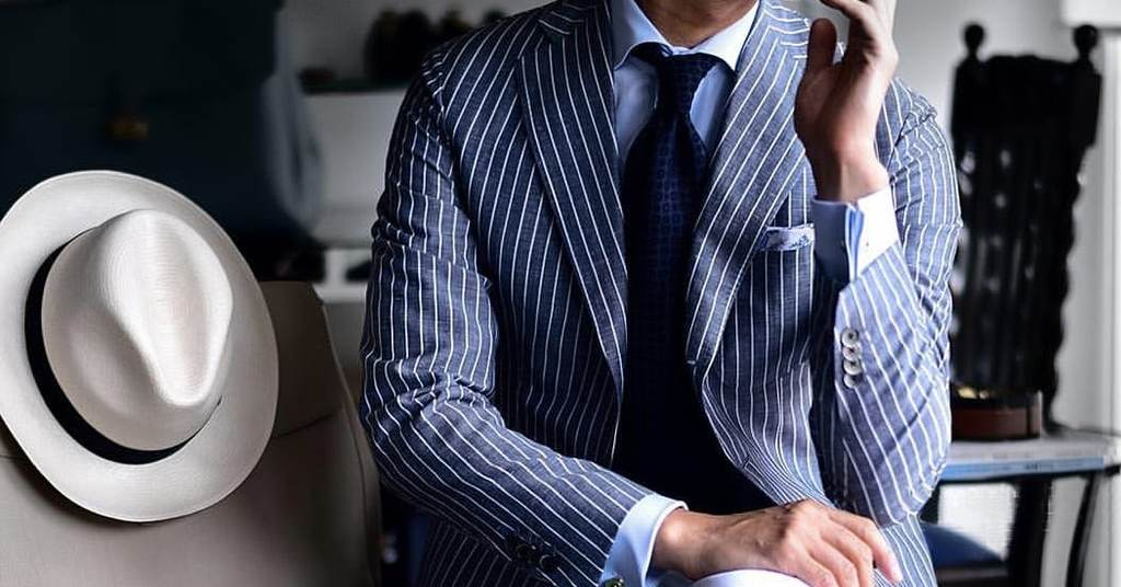Costume rayé sur-mesure tailleur paris costume sur-mesure