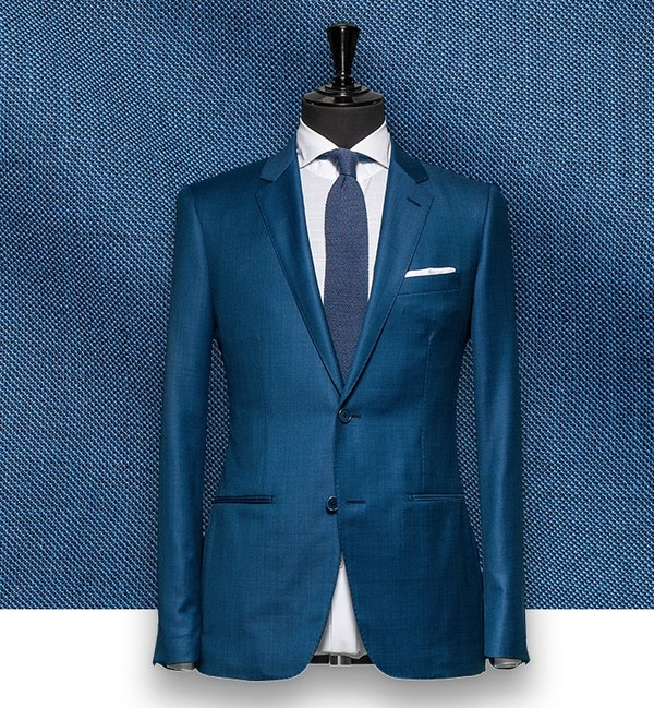 Costume Bleu Turquoise costume sur mesure tailleur paris