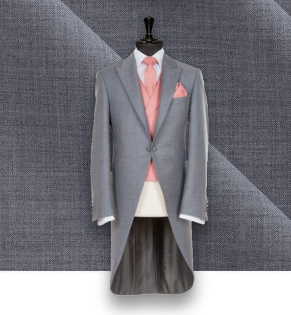 Jaquette cérémonie grise mariage costume de cérémonie sur-mesure