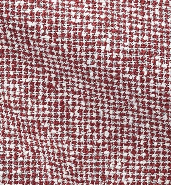 blazer rouge croisé pied de poule