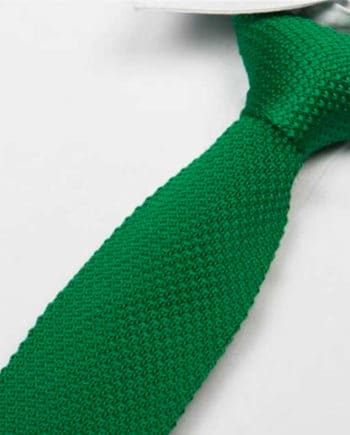 cravate tricot vert sapin maille cravate italienne