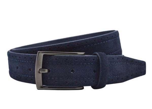ceinture en daim bleu 2