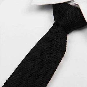 cravate tricot noir maille cravate italienne
