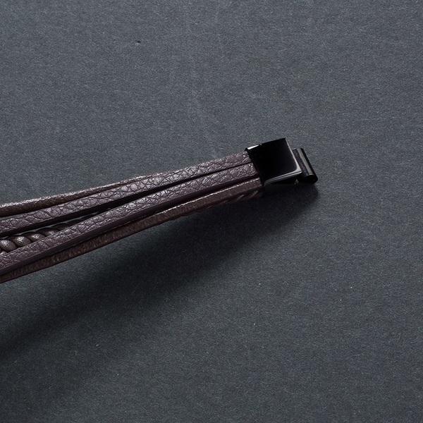 bracelet cuir triple rang