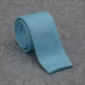 cravate tricot maille cravate mariage bleu céladon bleu clair