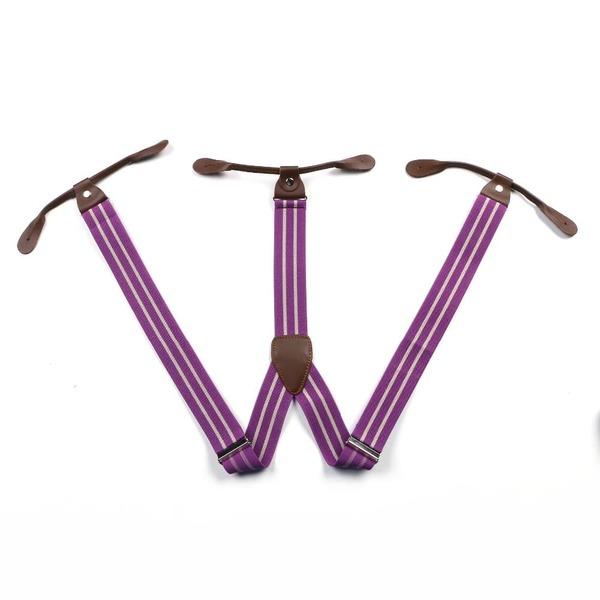bretelles violettes rayures accessoires homme