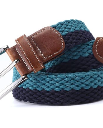 ceinture tressée bleu turquoise ligne