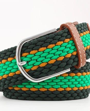 ceinture tressée vert ligne