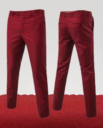pantalon chino rouge brique couleur homme