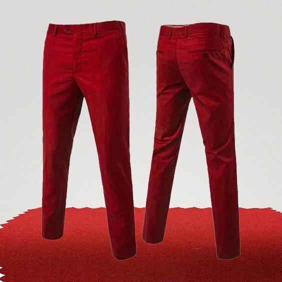 pantalon chino rouge rubis couleur homme