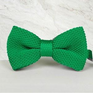 noeud papillon tricot vert intense mariage cérémonie maille tricot