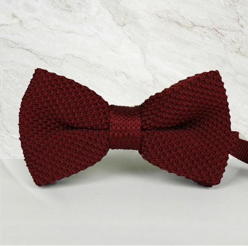 noeud papillon tricot bordeaux mariage cérémonie maille tricot mariage cérémonie maille tricot