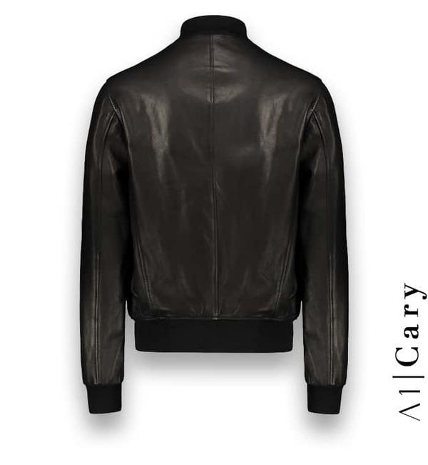 Blouson cuir noir A1 Cary Atacama costume privé paris fabrication sur mesure Italie