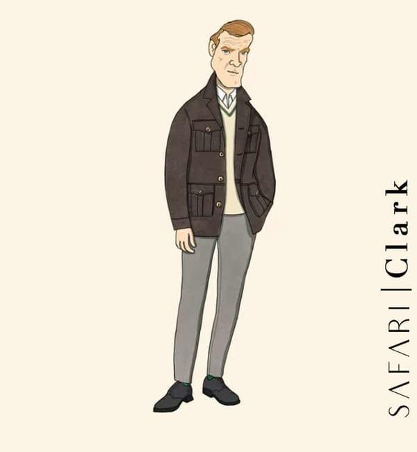 Veste Safari Clark costume privé paris fabrication sur mesure Italie