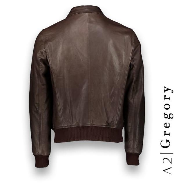 Blouson cuir marron A2 sur mesure Atacama Costume Privé Paris