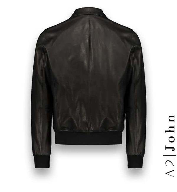 Blouson cuir noir A2 Atacama costume privé paris fabrication sur mesure Italie