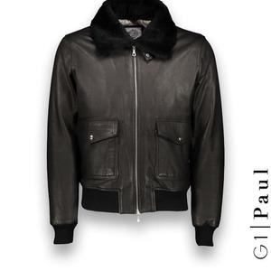Blouson cuir noir G1 bomber cuir sur mesure Costume Privé Paris