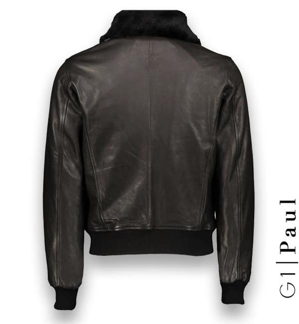 Blouson cuir noir G1 sur mesure Costume Privé Paris