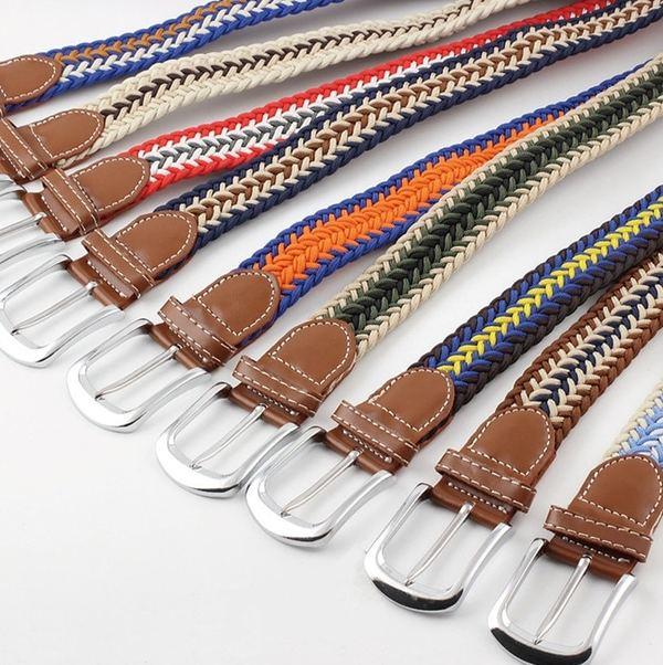assortiment couleur ceinture tressée