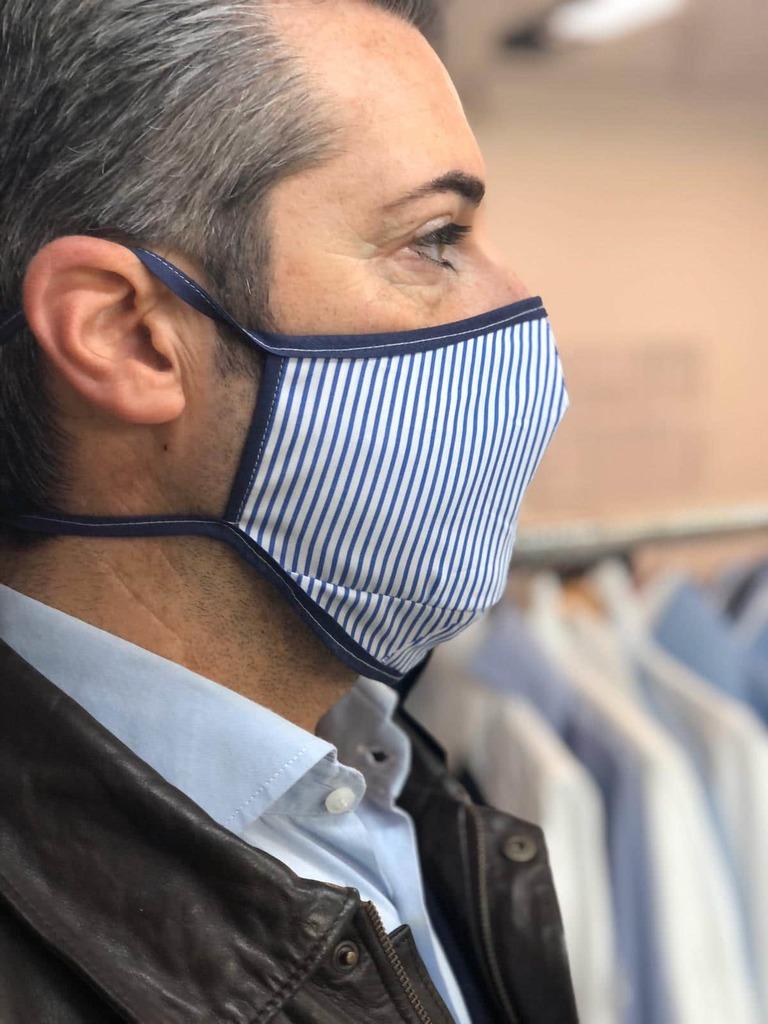 shopping mesures barrières masque sur mesure