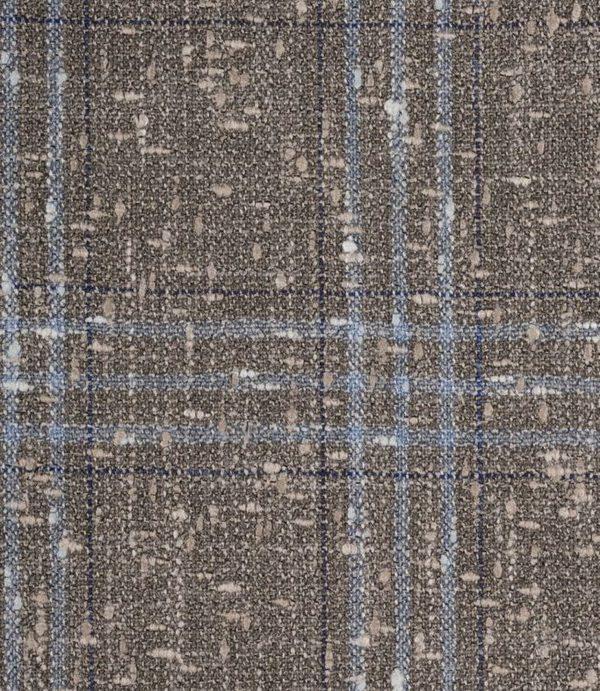 tissu blazer brun tweed carreaux