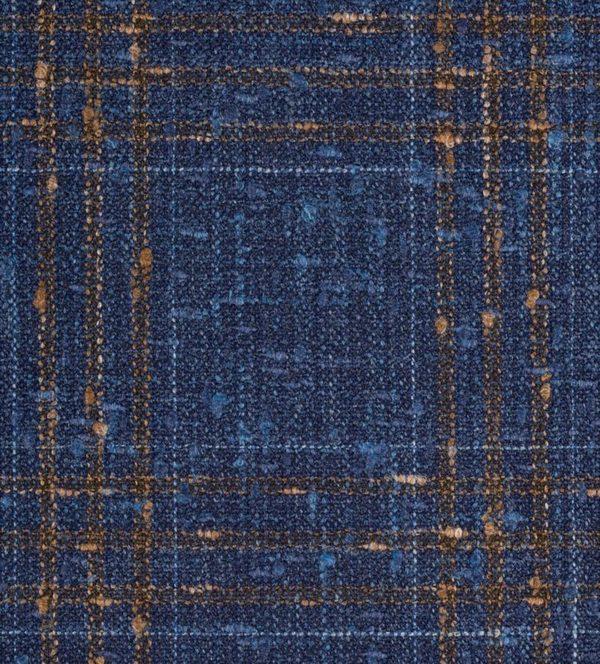 tissu Blazer bleu carreaux orange SS20 Loro Piana