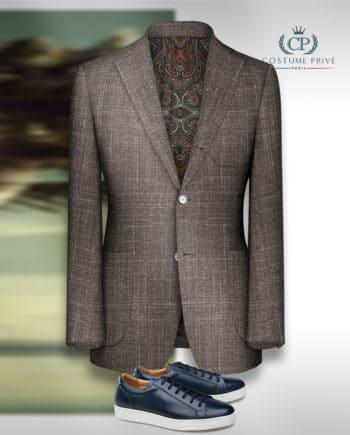 blazer brun tweed été