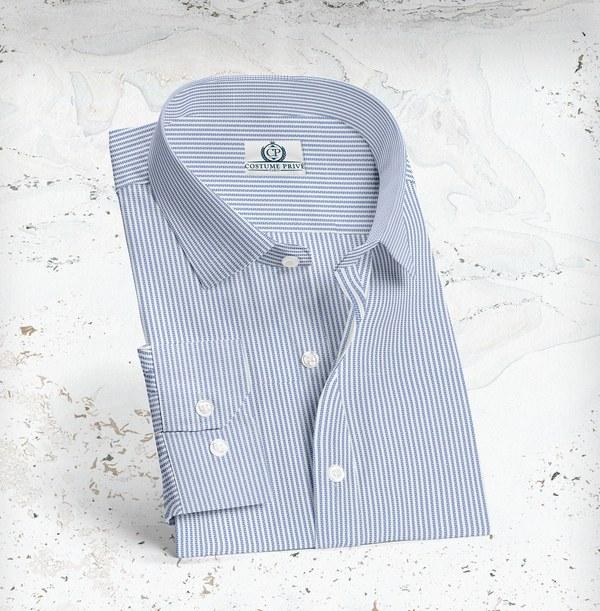 Chemise blanche rayures giro inglese sur mesure