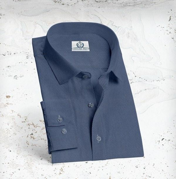 chemise bleu foncé oxford
